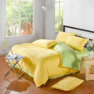 Спален комплект - Зелено/жълто