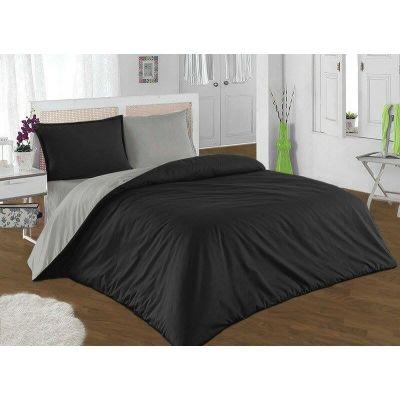 Спален комплект - Черно/графитено сиво