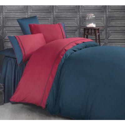 Спален комплект MIKA - Карма синьо и червено