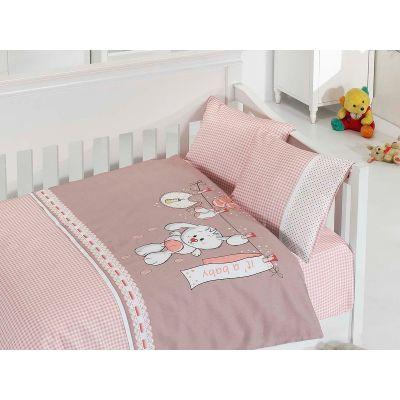 Бебешки спален комплект - Палавници розов