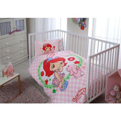 Бебешки спален комплект TAC - Стралбери Шорткейк Бъни