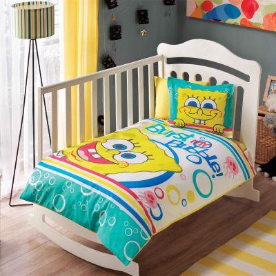 Бебешки спален комплект TAC - Спондж Боб бъбъл бейби жълт
