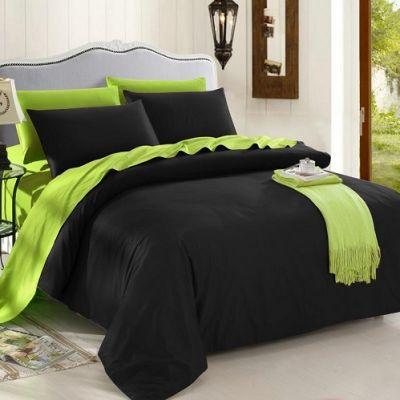 Спален комплект - Черно/лайм