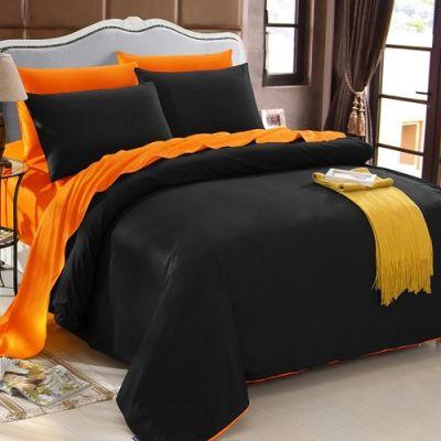 Спален комплект - Черно/оранжево