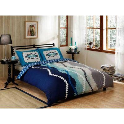 Сатенен спален комплект, Blake, Blue