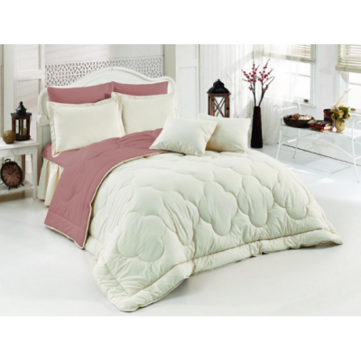 Двулицево шалте RAKLA - Бяло/цвят лавандула