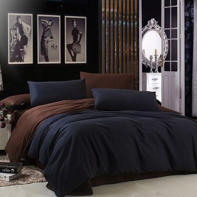 Спален комплект - Черно/тъмнокафяво