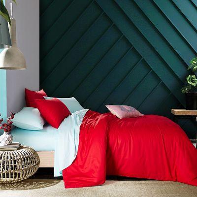 Спален комплект - Червено/светлосиньо