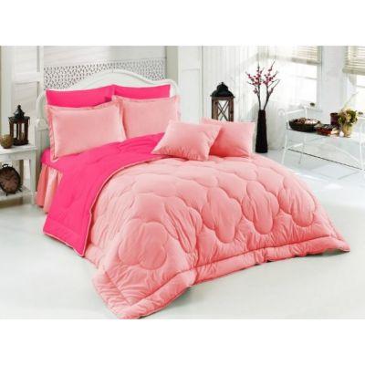 Двулицево шалте RAKLA - Бейби розово/светло розово