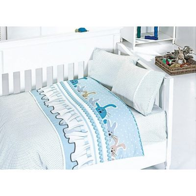 Бебешки спален комплект от бамбук - Джини блу