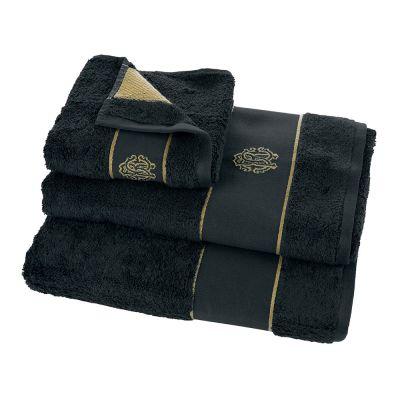 Кърпи Roberto Cavalli бяло злато - тъмно синя