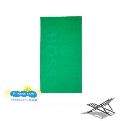 Плажна кърпа BOSS - Green