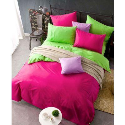 Спален комплект - Зелено/циклама