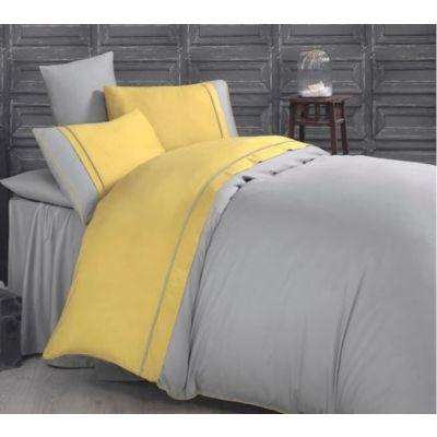 Спален комплект - Карма жълто/сиво