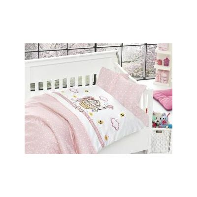 Бебешки спален комплект от бамбук,Kitty pink