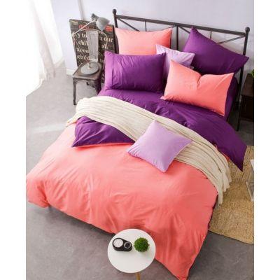 Спален комплект - Сьомга/лилаво