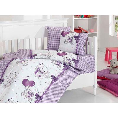 Бебешки спален комплект - Бебе Мече, лилав