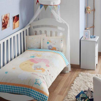 Бебешки спален комплект, Little cat, жълт