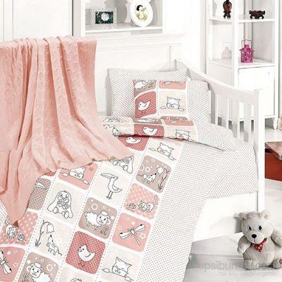 Бебешки спален комплект от бамбук - Луси пудра