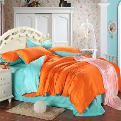 Спален комплект - Мента/оранжево