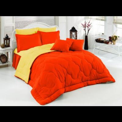 Двулицево шалте RAKLA - Оранжево/жълто