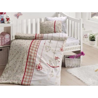 Бебешки спален комплект от бамбук - Palmi kirmizi