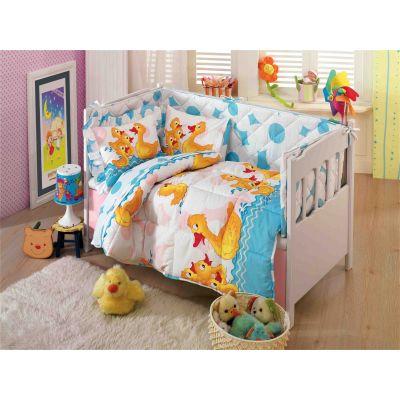 Олекотен бебешки спален комплект, Патета, син