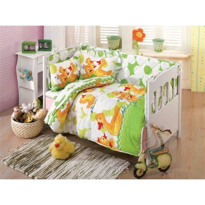 Олекотен бебешки спален комплект, Патета, зелени