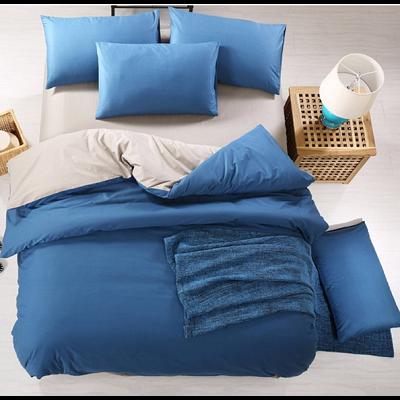 Спален комплект - Тъмносиньо/сиво