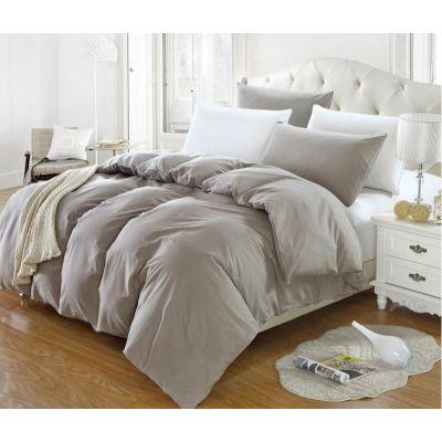 Спален комплект - Светлосиво/бяло