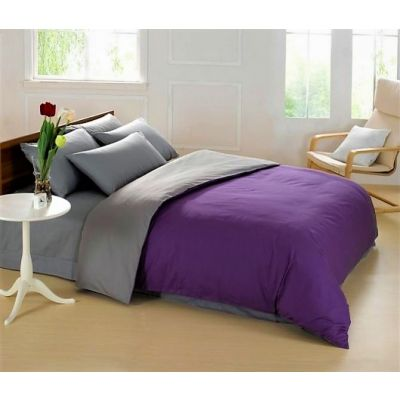 Спален комплект - Тъмнолилаво/графитено сиво
