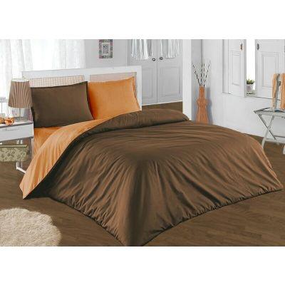 Спален комплект - Кафяво/оранжево