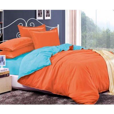 Спален комплект - Светлосиньо/оранжево