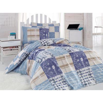Спален комплект COTTON BOX - Прайвът син