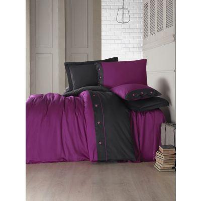 Спален комплект COTTON BOX - Фешън сатен тъмно лилав