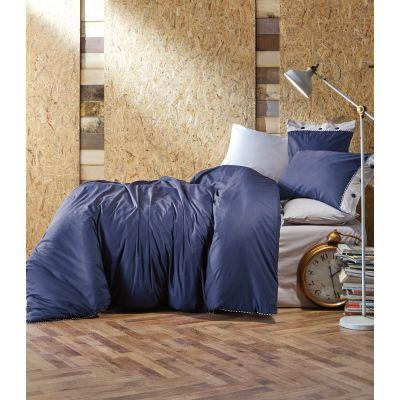 Спален комплект COTTON BOX - Плейн син