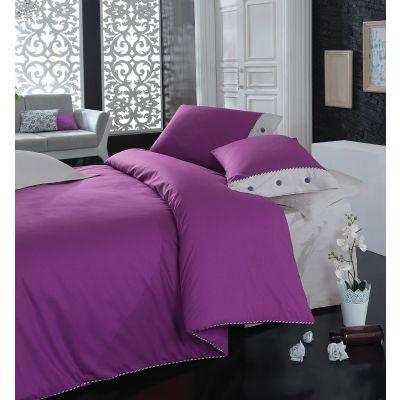 Спален комплект COTTON BOX - Плейн лилав