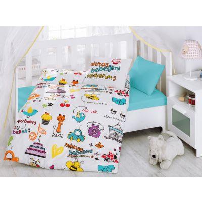 Бебешки спален комплект COTTON BOX - Мутлю Бебек