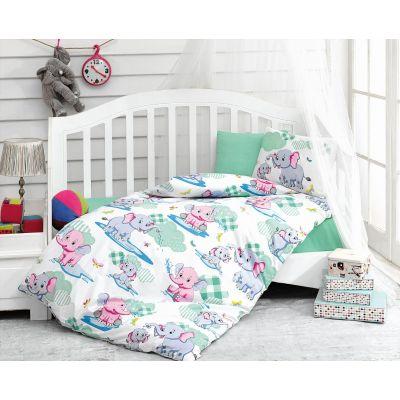 Бебешки спален комплект COTTON BOX - Слонове