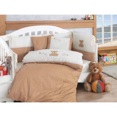 Бебешки спален комплект с олекотена завивка - Лукс Броуд Теди