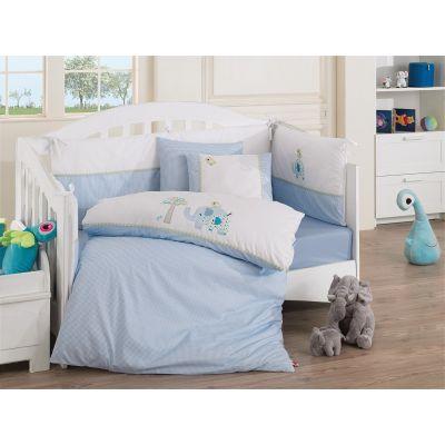 Бебешки спален комплект с олекотена завивка - Лукс Броуд Елефан