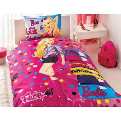 Детски спален комплект TAC - Барби Фейс Фешън