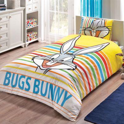 Детски спален комплект TAC - Бъгс Бъни страйпд