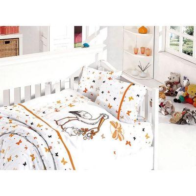 Бебешки спален комплект от бамбук - Сторк ориндж