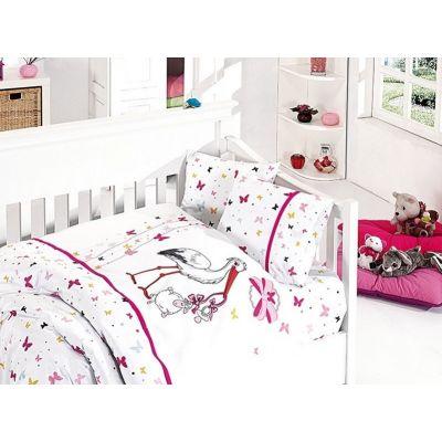 Бебешки спален комплект от бамбук - Сторк пембе