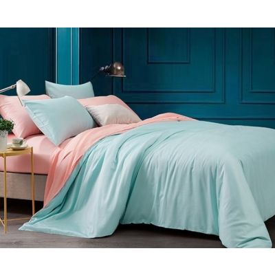 Спален комплект - Светло розово/петрол