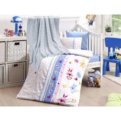 Бебешки спален комплект от бамбук,Sweet toys,син, с одеало