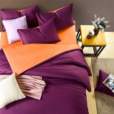 Спален комплект - Тъмнолилаво/оранжево