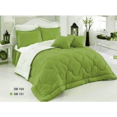 Двулицево шалте RAKLA - Зелено/бяло