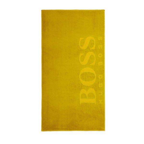 Плажна кърпа BOSS - жълта